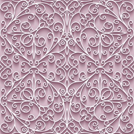 Cutout paper lace texture, tulle background, swirly seamless pattern