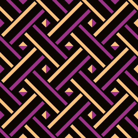 entwined: Abstract  pattern of interlaced lines, woven texture, colorful geometric ornament