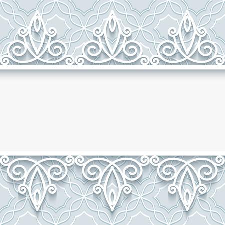 fondo elegante: Vintage background with lace border ornament, elegant greeting card or wedding invitation template