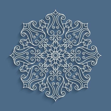 Paper Lace Doily Decorative Cutout Snowflake Mandala Round