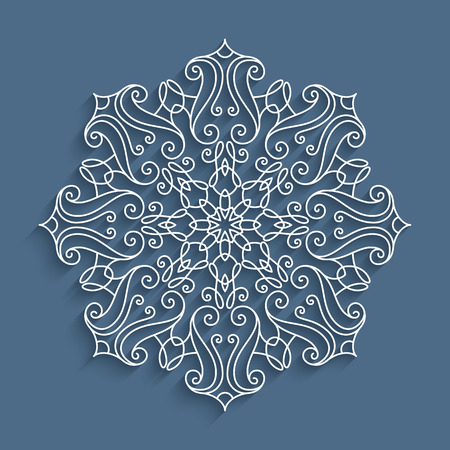 Papier Spitzendeckchen, Dekorativer Ausschnitt Schneeflocke, Mandala ...