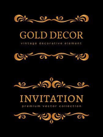 Vintage gold vignettes flourishes decorative design elements vintage gold vignettes flourishes decorative design elements royalty free cliparts vectors and stock illustration image 85997405 stopboris Images