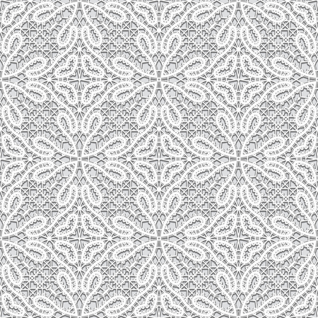 Vintage grey background, handmade tatting lace texture, tulle fabric, crochet ornament, seamless pattern