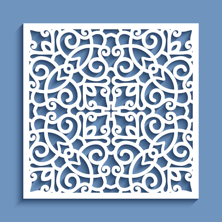 Decorative Panel With Lace Pattern, Square Vector Ornamental ...