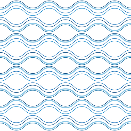 Abstract wavy lines background, seamless pattern