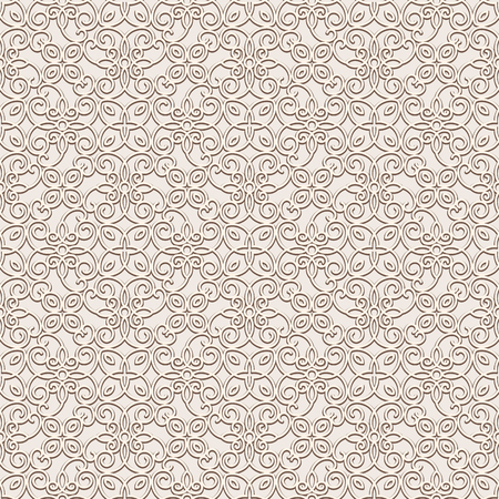 Vintage lace background, vector seamless pattern in light color