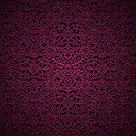 Pink ornamental background, vector knitted texture, crochet lace pattern. Illusztráció