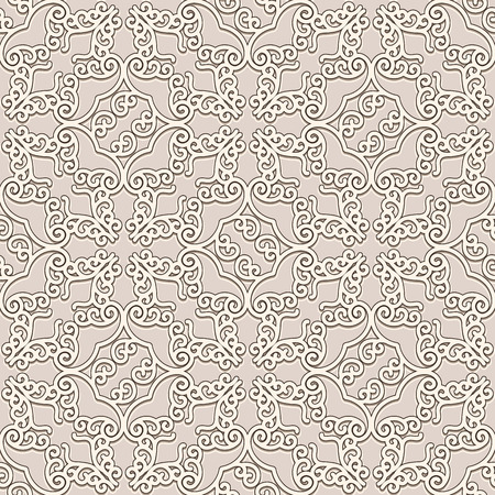 Vintage beige background, vector seamless pattern in neutral color.