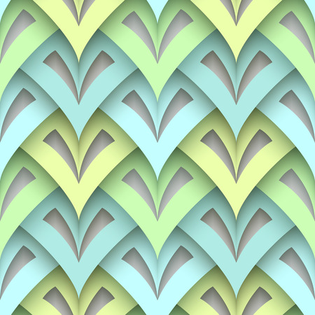 Blue, green and grey abstract geometric seamless pattern