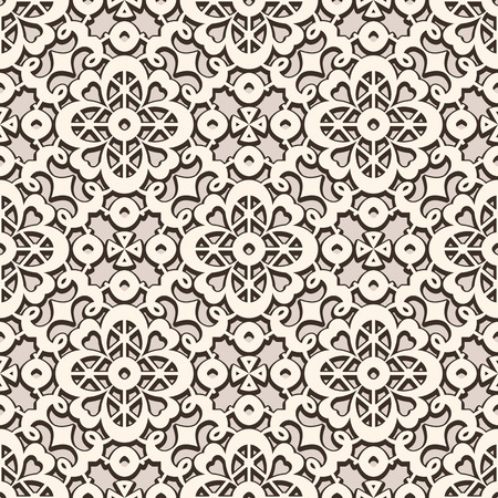 Vintage lace ornament, elegant tulle texture, vector seamless pattern.