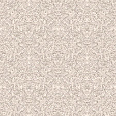 Vintage ornamental background, seamless pattern in beige color