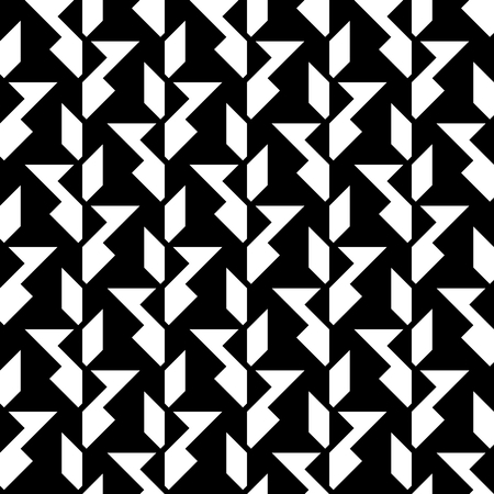 Black and white background, abstract seamless geometric pattern