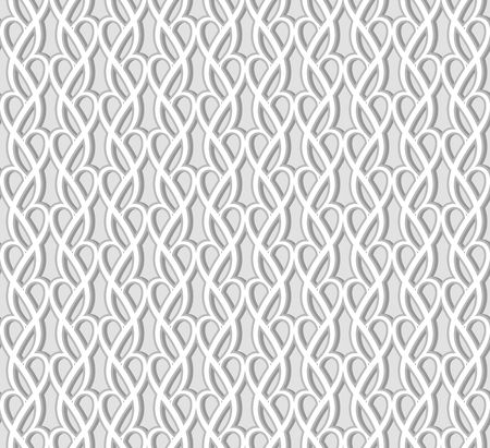 Abstract seamless lace pattern, swirly tulle texture, ornamental background in neutral grey color Stock fotó - 125229786