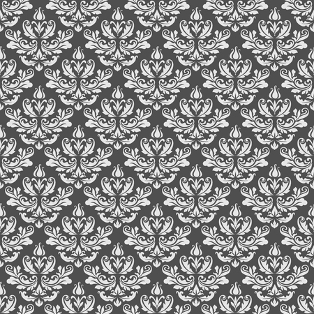 Vintage background, damask seamless pattern, floral ornament in neutral color Ilustração