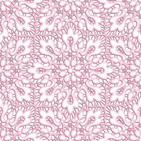 Elegant lace texture, curly seamless pattern, cutout paper ornament Ilustração
