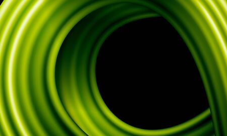 Close-up of green curl of plant stem, vine, exotic creeper shoot, abstract ecological background with place for text.