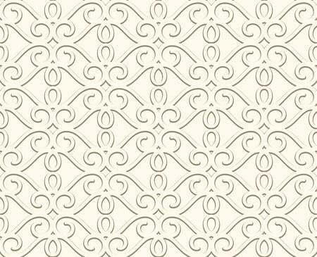 Vintage seamless pattern, ornamental wallpaper in pale colors, elegant background for website page or wedding invitation card Çizim