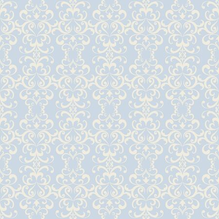 Vintage lace pattern, ornamental wallpaper, swirly floral background in neutral colors Illusztráció