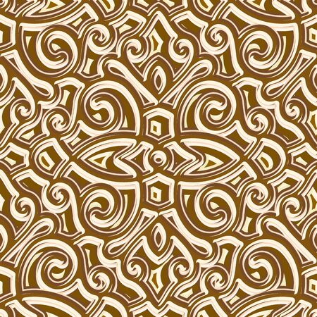 Jewellery gold seamless pattern, vector repeating tile, vintage golden background, ornamental brocade texture Standard-Bild - 134818681