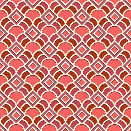 Abstract ornamental background with simple diagonal checks, vector seamless geometric pattern