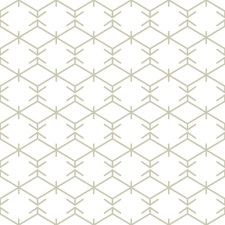 Abstract simple lines pattern. Hexagon ornament on white background. Seamless geometric texture in minimal style. Illusztráció