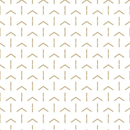 Abstract simple pattern with golden arrows. White and gold ornamental background. Seamless geometric texture in minimal style. Stock fotó - 143438267