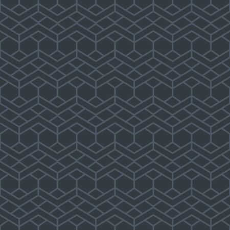 Simple grey geometric pattern with zigzag line ornament. Elegant lace background in neutral colors. Abstract seamless texture in minimal style Stock fotó - 144903609