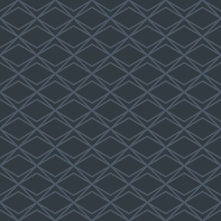 Simple geometric pattern in neutral color. Abstract dark grey background. Seamless diamond shaped texture in minimal style. Stock fotó - 144903610