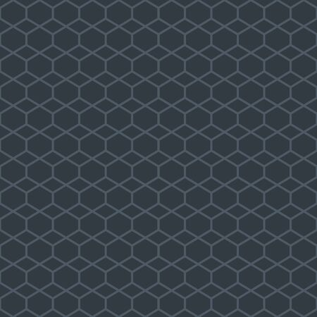 Abstract simple pattern with honeycomb grid pattern. Elegant geometric background in dark grey color. Seamless texture in minimal style. Stock fotó - 144903611