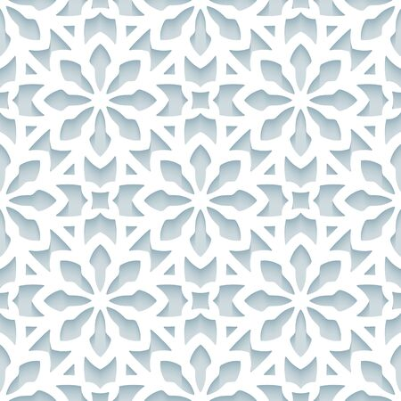 Cutout paper pattern, seamless lace texture, ornamental background in neutral color Stock fotó - 146818527