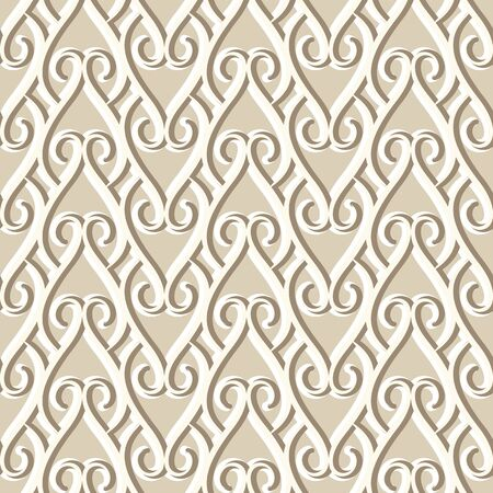 Vintage seamless pattern, ornamental in neutral beige colors