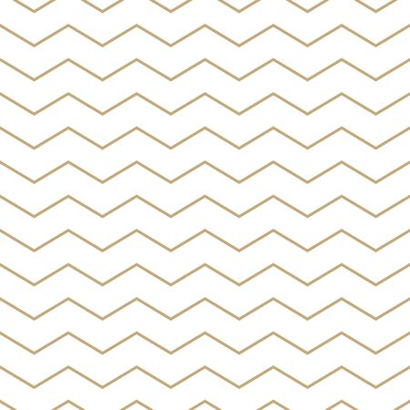 Simple geometric pattern with golden zigzag lines Vettoriali