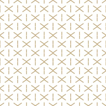 Abstract simple pattern with golden criss-cross lines. Stock fotó - 148622681