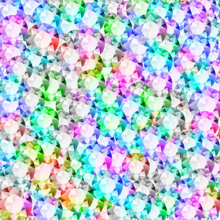 Diamond jewellery background. Abstract iridescent crystal texture of multicolored precious gem stones Stock fotó - 151831648