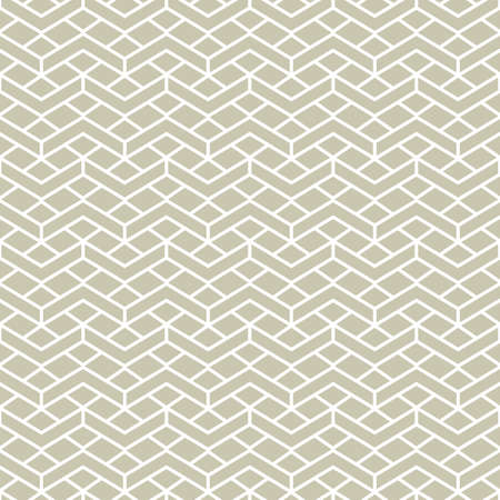 Simple geometric pattern with line grid. Abstract background with zigzag texture in neutral color. Seamless wallpaper ornament in minimal style. Stock fotó - 155067110