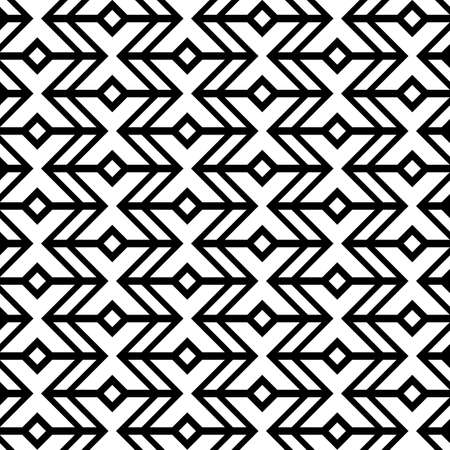 Abstract geometric pattern, black and white background with seamless ornament of zigzag lines Stock fotó - 155067124