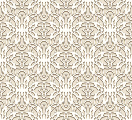 Seamless lace pattern, elegant lacy background with tulle fabric texture in neutral beige color. Stock fotó - 155067125