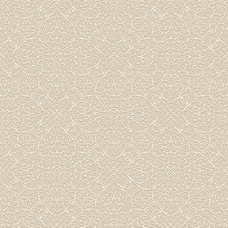 Vintage lace texture, seamless line pattern on beige background