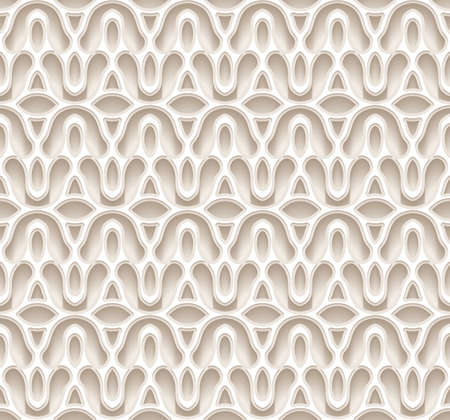 Neutral beige ornamental background, abstract seamless pattern in light color. Vector illustration Vettoriali