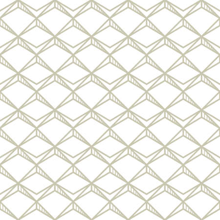 Abstract simple pattern on white. Ornamental background in neutral color. Seamless line grid, geometric texture in minimal style.