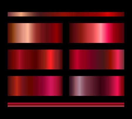 Set of gradient backgrounds in red and pink colors, elegant collection of labels for bright perfume or packaging design