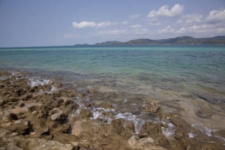 clear water: clear water of gulf of Thailand Stock Photo