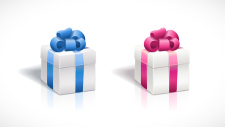 separately: Vector gift box Elements are layered separately in vector file. Illustration
