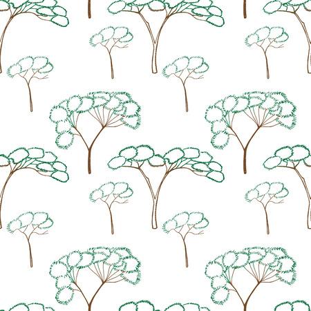 idealistic: African Mountain idealistic landscape design element illustration
