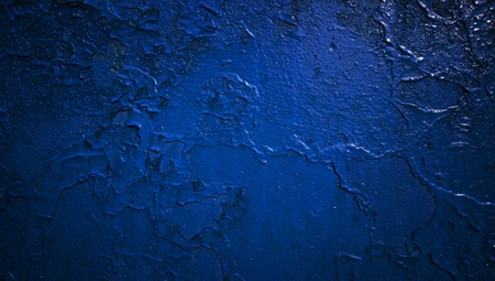 paint wall: Grain blue paint wall background or texture