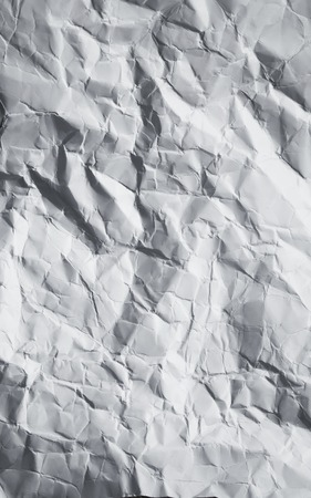 dirty sheet: Paper crumpled texture. White dirty paper sheet. Stock Photo