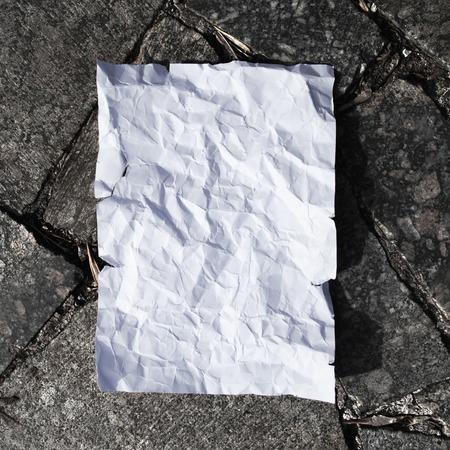 White blank postcard on asphalt texture background Stock Photo