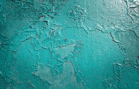 pintura en la pared de la textura perfecta pelar. Patrón de grunge material azul rústico.
