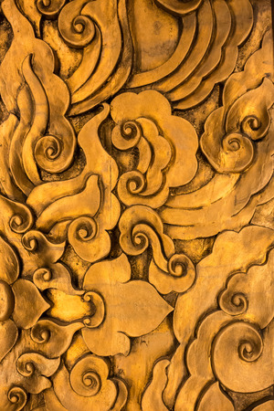 kunst op de houten snijwerk muur
