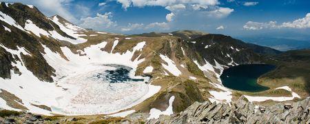 Two Of  The Seven Lakes of Rila mountain in bulgaria Reklamní fotografie